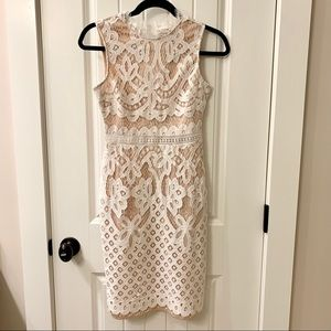 Lulus lace dress in white